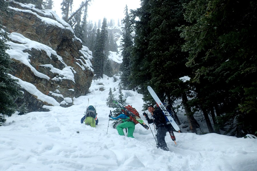 Here is how you get up the headwall. It's super duper. Photo credit: Jeremy Bruns