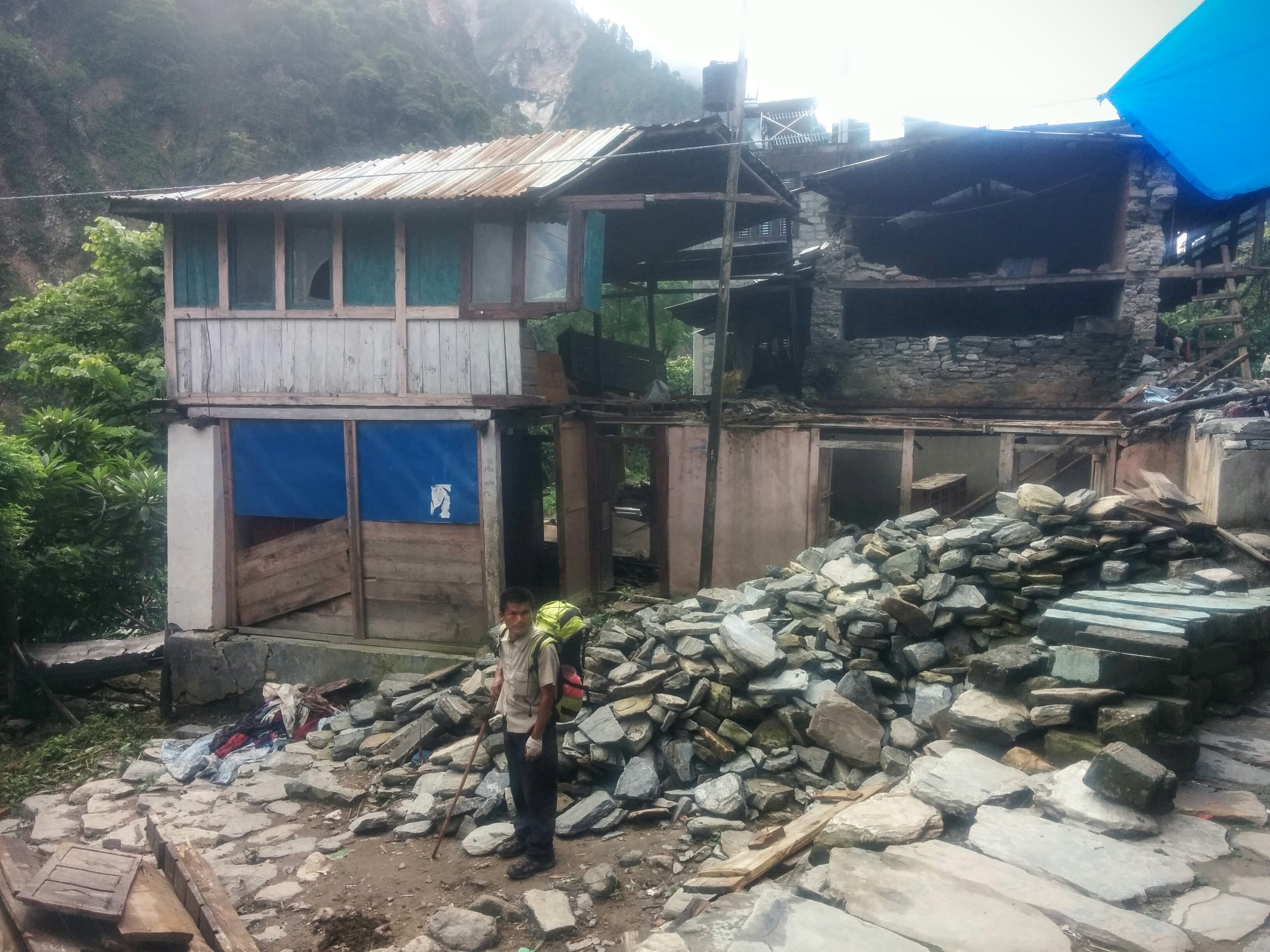 Nepal earthquake damages (and my guide!)