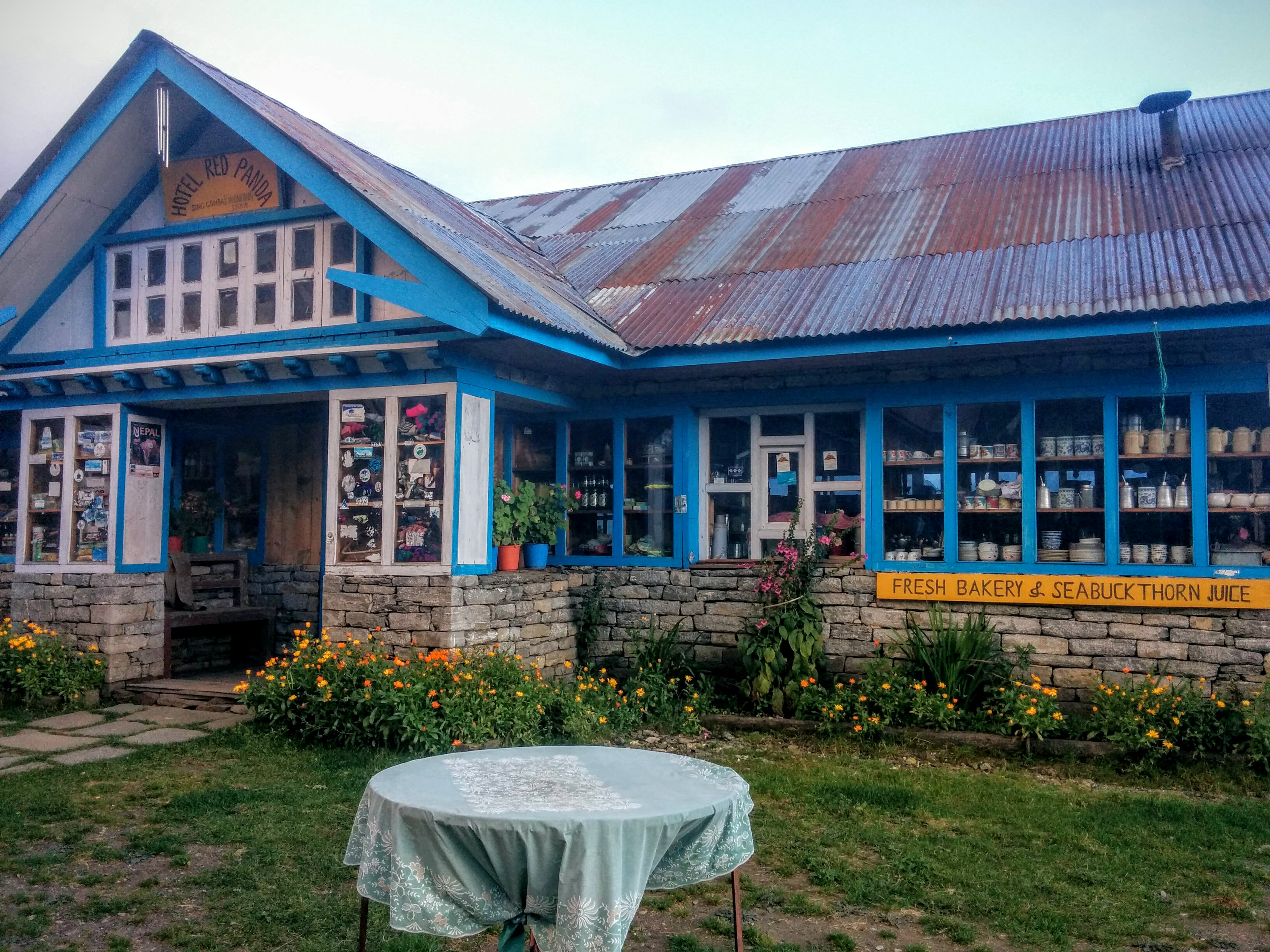 My hotel in Chandanbari. Most hotels along the trail are not remotely as nice as this one.