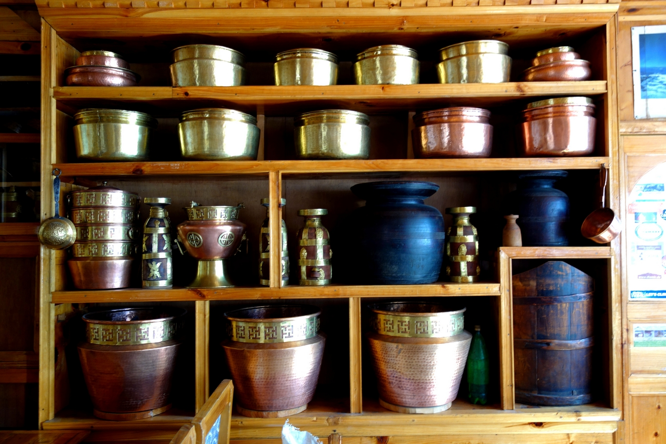 It's common in Nepal to display your kitchenwares as a statement of your family's wealth