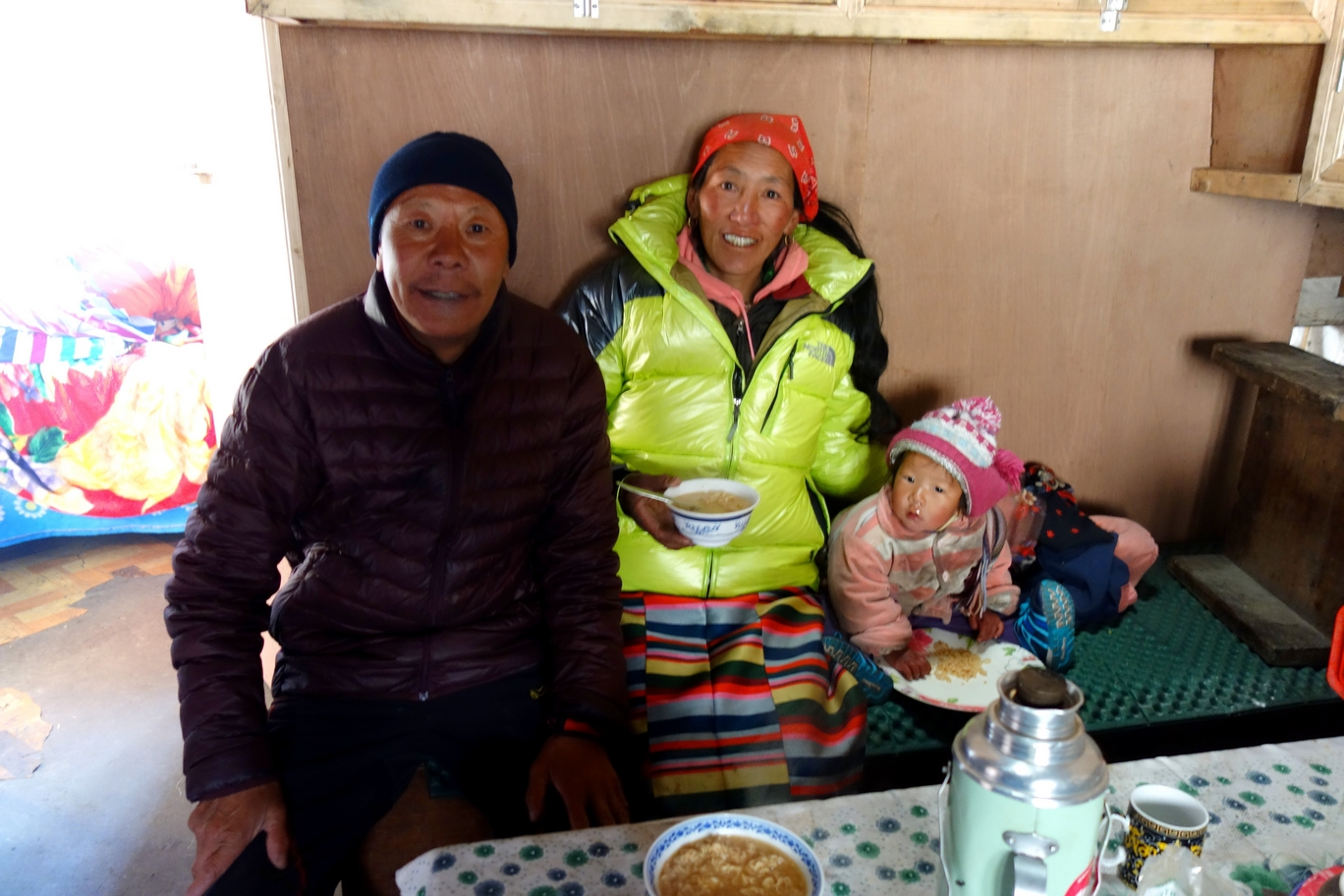 Sherpa family, owners of the Marathon Runner Hotel in Thame