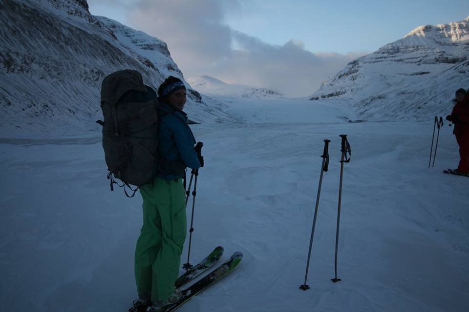 Me - starting to climb Saskatchewan glacier
